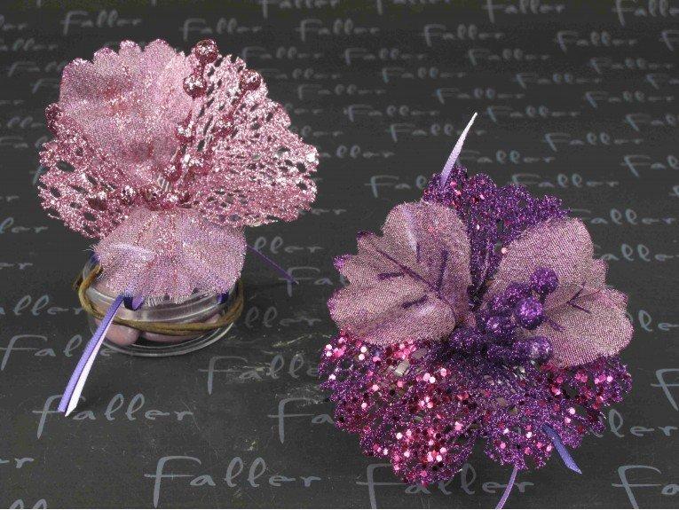 boite a dragees mariage avec fleur paillettee lilas mauve. Black Bedroom Furniture Sets. Home Design Ideas